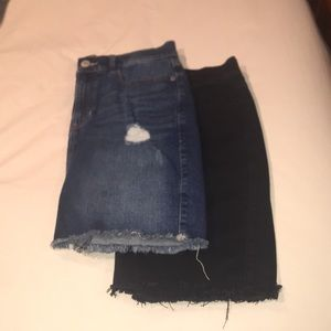 Two Pairs of Express High Waisted Skirts Size 6